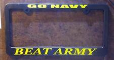 2 (two) NAVY BEAT ARMY license plate frames USN USNA Annapolis  West Point usma
