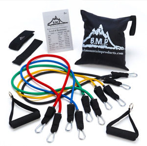 Resistance Band Set Fitness Workout Home Gym Exercise Yoga Sports Body Strength