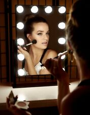 Hollywood  Make up Vanity Mirror Dimmable LED Light Bulbs Touch Control ((Black