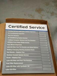 GM Certified Service Price Custom Display Metal Sign