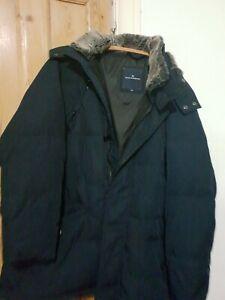Marks And Spencer Blue Harbour Mens Blue Parka Down Filled  Jacket Coat Size XXL