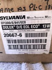 Sylvania 20067 13W 4-Pin Quad Tube Plug In Case Of 48 Bulbs