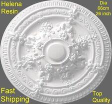 Ceiling Rose Helena Resin Strong Light Design Not Polystyrene Easy Fix 66cm Deco