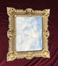 Cadre d'image gold-weiss avec verre rectangulaire 45x37 Cadre photo
