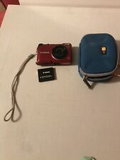 Canon PowerShot A2200 HD 14.1MP Digital Camera Red 4X Optical Zoom For Parts or