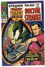Strange Tales #152 with Dr. Strange & Nick Fury Agent of SHIELD, Very Fine Cond'