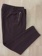 ANTHOLOGY WINE SLIM LEG TROUSERS SIZE 12