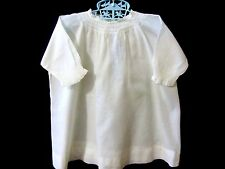 Handmade VTG Victorian Batiste Baby Dress White Smocked Antique Nursery
