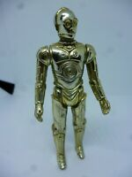Vintage 1977 original C3PO Star wars Figure in Great condition Light Gold Solid