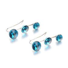 Fashion Ear Crawler Crystal Climber Earrings Pins Vine Bar Rhinestone Set Cuff