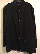 Kenneth Cole Men's Linen/Rayon Jacket..Black..Size 42