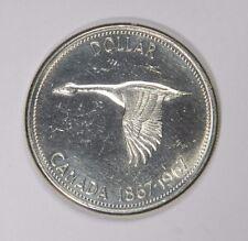 1967 CANADA SILVER GOOSE DOLLAR - FLASHY WHITE LUSTER! - CLASSIC! INV#402