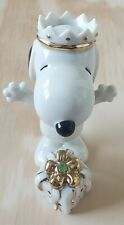Lenox Snoopy's Birthday Surprise August - 24kt Gold Accents