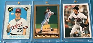 1990 CLASSIC DRAFT PICKS > MIKE MUSSINA (RC) #20 + 1998 Topps INAUGURAL #/5000 +