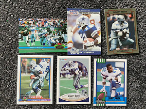 Emmitt Smith 90 Fleer Rookie Card- Great Condition + 5 Rookies +230 Card Lot