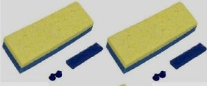 "2 ~ QUICKIE Automatic Sponge Mop Refill Type S Fits Model # 045 3"" x 9"" 0442 NEW"