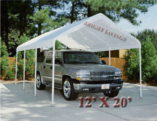 White Replacement Canopy Tent Carport 12' X 20' Top Cover Does Not Include Frame