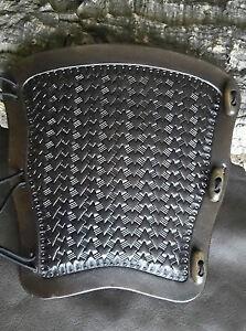 Arrow Basket weave (type 3) leather archery arm guard,bracer,armguard,larp,pagan