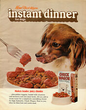 1970's Vintage ad for Chuck Wagon Instant Dinner for Dogs/Dog Food (062813)