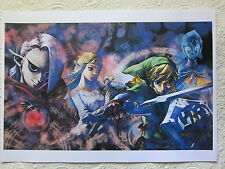 POSTER THE LEGEND OF ZELDA SKYWARD SWORD NINTENDO WII DIN-A 3 DIN A3 NINTENDO