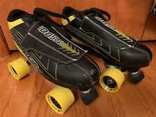Roller Derby Sting 5500 Quad Skates Black Yellow Mens Sz 8 Lace Up With Cover