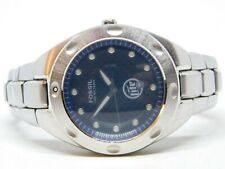 Fossil Blue PR-5098 Silver Tone Quartz Analog Men's Watch