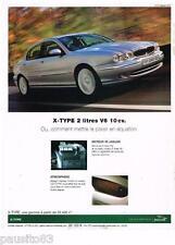 PUBLICITE ADVERTISING 105  2002  JAGUAR   la X-TYPE 2L V6 10CV