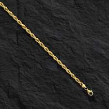 "Anklet 10"" 2 mm 2 grams Roy014 14k Solid Gold Rope link Chain/ Bracelet"