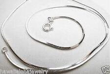 """4-Sided Dc Square Snake Chain Anklet 9"""" 1Mm Petite Solid 925 Ster Silver Italian"""