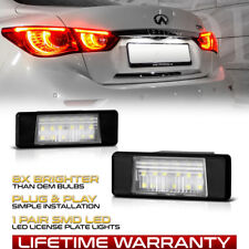 """XENON WHITE"" LED License Plate Light Housing For Nissan Juke NV200 Infiniti Q50"