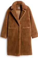 PRIMARK BROWN BORG SOFT FLUFFY FAUX FUR COAT JACKET TEDDY BEAR 16/44 SOLD OUT !