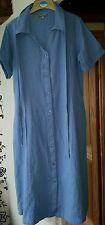 Patra Button Through Linen Blend Dress - M