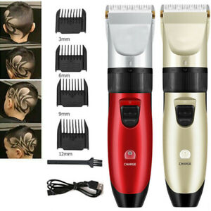 Electric Hair Cutting Clippers Trimmers Professional Men Cordless Barber Shaver