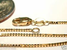 14kt Pure Solid Gold 20 inch .8MM BOX CHAIN - LOBSTER LOCK..........GUARANTEED!