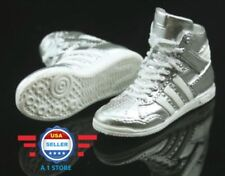 1/6 Adidas style Silver color sneakers PEG STYLE for 12'' FEMALE Figure Doll