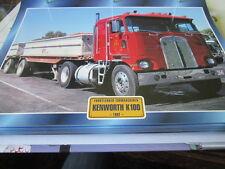 Super Trucks Frontlenker USA Kenworth K 100, 1962