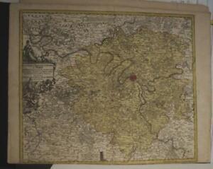 PARIS FRANCE 1730 MATTHAUS SEUTTER UNUSUAL ANTIQUE ORIGINAL COPPER ENGRAVED MAP