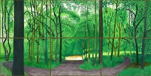 David Hockney Woldgate Woods CANVAS CANVAS WALL ART 20x30 Inch READY TO HANG UK