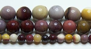 """Moukaite- Mookite Beads 2mm-3mm-4mm-6mm-8mm-10mm Real Stone 15.5"""" Strand"""