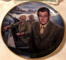 John Wayne Plate, Attack at Tarawa, Sands of Iwo Jima Susie Morton Movie Plate