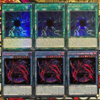 3x Magier des schwarzen Chaos Max+Chaosform TN19-DE002+DUPO-DE049 Set Yu-Gi-Oh