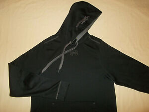 UNDER ARMOUR BLACK HOODED SWEATSHIRT MENS SMALL EXCELLENT CONDITION