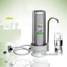 COUNTER TOP Water FILTRATION System Clear Housing With Lead Free FAUCET Diverter