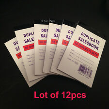 "Lot of 12 HANDHELD Sales Order Books/Receipts 50 Duplicate Forms 3.5""x5"""