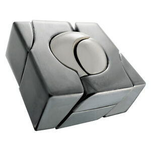 Hanayama Cast Marble Puzzle - Level 5 of 6 - Difficult Metal Puzzle