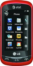 LG Xpression C395 AT&T UNLOCKED GSM Slider Cell Phone Touchscreen QWERTY Red