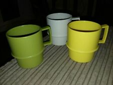 3 Tupperware Cups With Handles