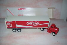 """1974 Coca Cola """"Coke The Real Thing"""" Winross Diecast  Trailer Truck Red Doors"""