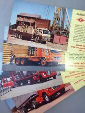4 1950s DIAMOND T TRUCKS Minnesota ST PAUL Advertising Ink Blotter Vintage