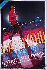 MATISYAHU 2013 PARIS CONCERT TOUR POSTER - Reggae Rap Music